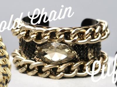 DIY   $3 to $300 Gold Chain Cuff   BellaGemaNails