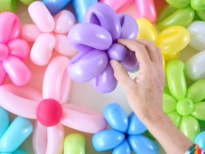 DIY Flower Balloon Party Backdrop