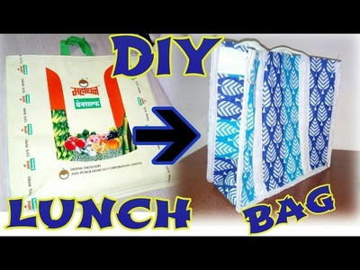 DIY lunch bag make at HOME in Waste material
