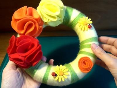 DIY - Spring wreaths - Κατασκευή: Ανοιξιάτικα στεφάνια