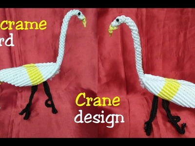Easy Macrame BIRD.  Crane.Animal Making tutorial step by step