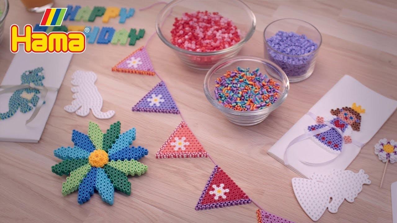 Hama beads - Birthday celebrations