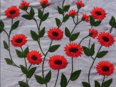 Hand Embroidery : Beautiful Flower Stitch Tutorial | 13 March 2018