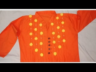 Hand embroidery Kurti design with easy and beautiful style