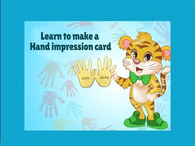 Hand Impression Card Making | Tiggu Learning - Craft | Easy Craft for Kids