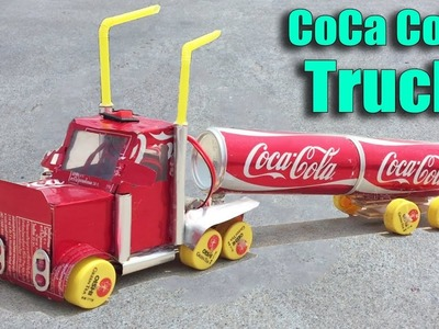 How to Make a Coca Cola Truck with DC motor DIY at Home - Life Hacks