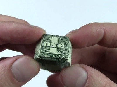 How to Make an Origami Dollar Ring (Moneygami). Unique Ring of 1 Dollar