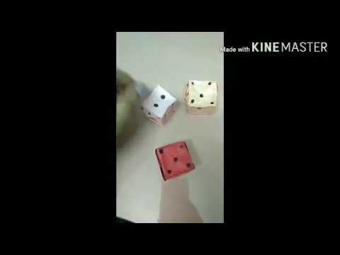 How To Make Origami Dice Kids Craft Paper Dice Easy