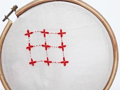 How to Stitch.Sewing Bangladeshi Nokshi khatha (নকশী কাথা সেলাই)