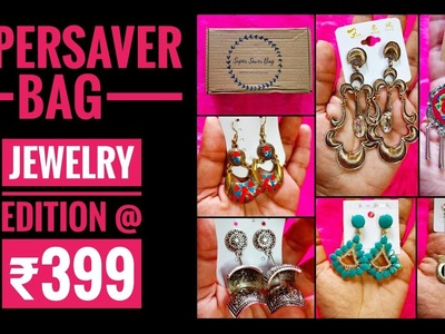 Jewelry Supersaver bag March 2018 |Try On | Must buy for earrings lovers |6 pieces @ ₹399