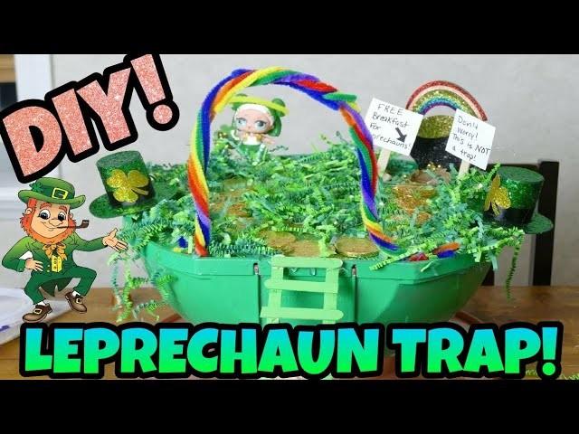 LOL Leprechaun Trap Big Surprise! DIY Leprechaun Trap!