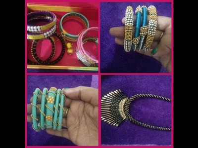 My part 2 silk thread  jewelry collection.diy.telugu
