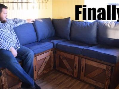 Off Grid Cabin Update & Diy Storage Sofa! Ep. 43