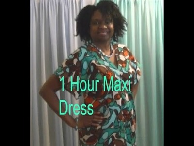 One Hour Maxi Dress Using 1 1.2 Yard Of Fabric - Sewing With Niler
