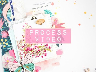 Scrapbooking Process Video #3 - Magic - Using Only Scraps