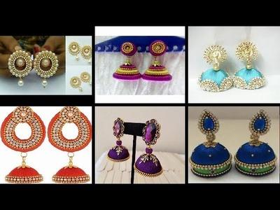 SHALINI'S LADIES CORNER :: SILK THREAD HAND MADE EARRINGS  DESIGNS  FOR U