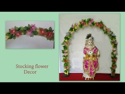 Stocking Flower Decor  DIY