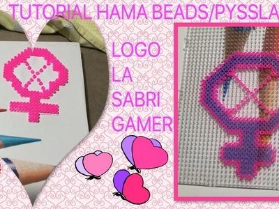 Tutorial hama beads- pyssla, logo la sabri gamer