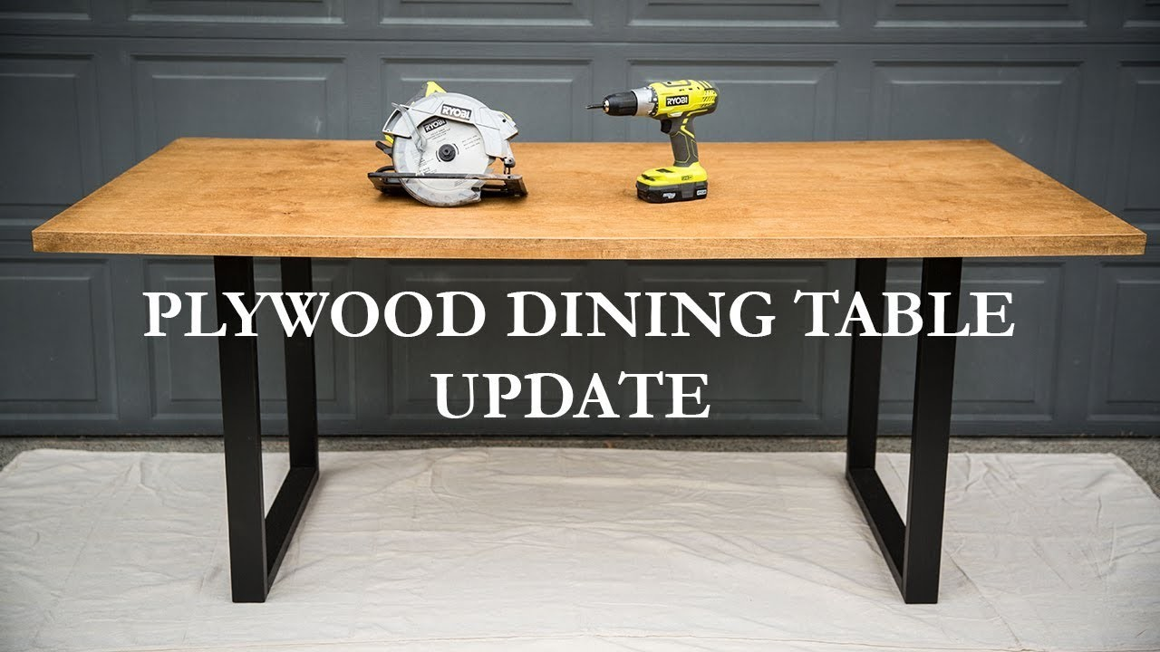 How Update Diy Plywood Dining Table