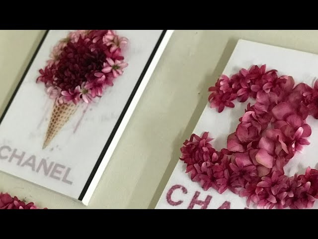 3d Flower Canvas Wall Art Using Dollar Tree Flowers Chanel Inspired
