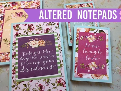 Altered Dollar Tree Notepads | ???? Spring Style ????
