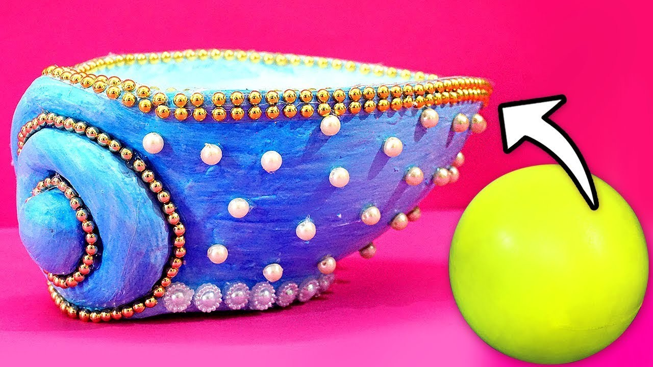 Amazing Plastic Ball Craft Idea for Home Decoration! Best Out of Waste Ideas