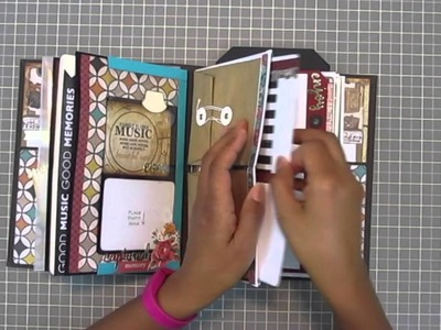 Creative Arts Mini Album (Zoomed In) - Bag Tag A Lope Tutorial