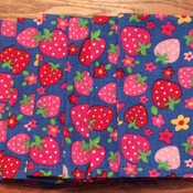 Dinner Napkins -  Cloth - Strawberry Design  - Eco Friendly -  Handmade