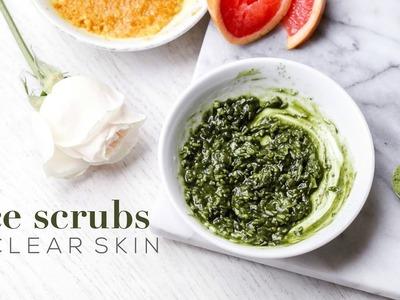 DIY FACE SCRUBS FOR CLEAR SKIN | glow + soothe skin