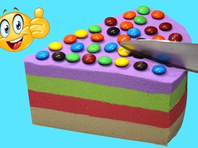 DIY How To Make Kinetic Sand Rainbow Peppa Pig Birthday Cake Play Doh  Learn Colors Food For Kids