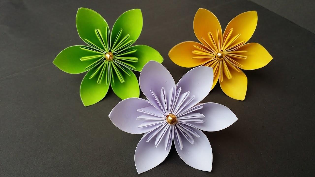 Diy How To Make Kusudama Paper Flower Easy Origami Kusudama
