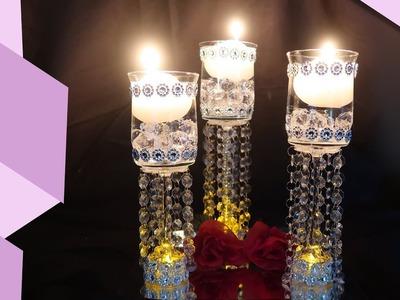 DIY Romantic Chandelier Candle Holder Trio
