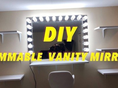 DIY Vanity With Dimmable Lights For Under $300 (55 in Vanity)