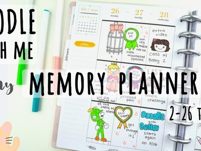 Doodle With Me | Memory Planner | Pen and Marker Only | Wk 2-26-18
