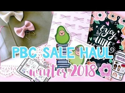 EPIC Planner Haul Part 1 - PBC Sale Winter 2018 Haul. NoWhiteSpaceStickers