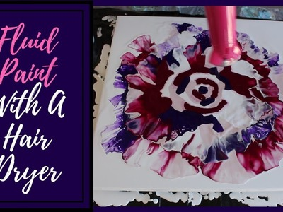 Fluid Paint with a Hair Dryer | Flower Experiment