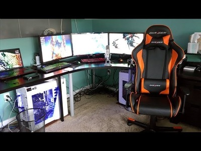How To Build A Desk for Gaming Setup or Home Office - DIY
