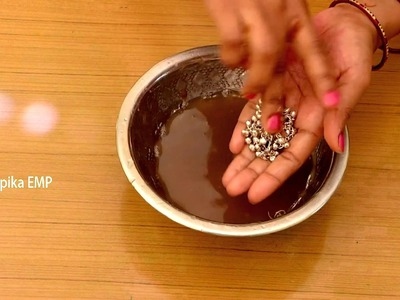 How to clean silver jewelry at Home In Few Seconds || Deepika Recipes