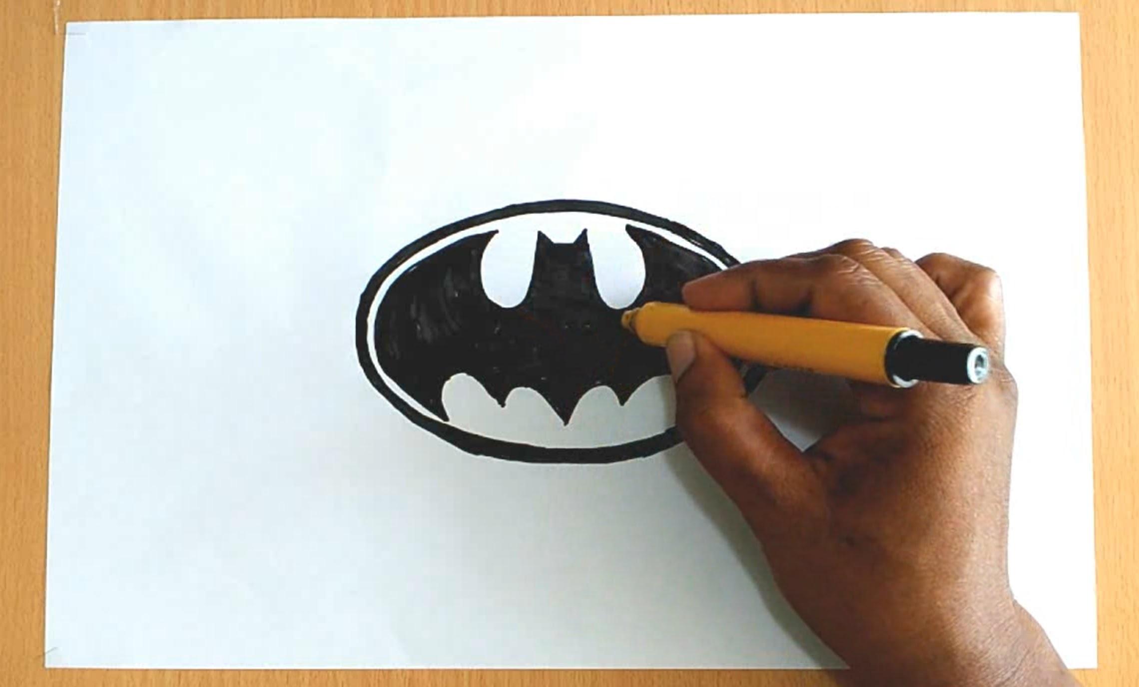 How to Draw the Batman Logo