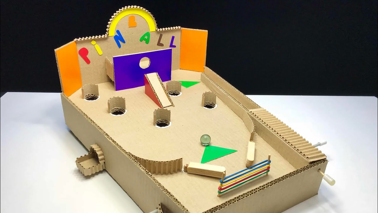 How to Make board game Pinball from cardboard