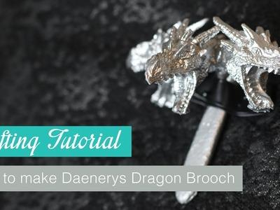 How to make Daenerys Dragon Brooch Season 7 from Game of Thrones   Naoko Cosplay  