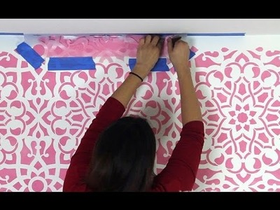 How to Stencil into Corners and Edges of Wall, Ceiling Line, and Floor Line