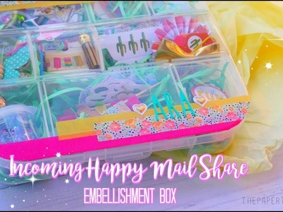 INCOMING HAPPY MAIL SHARE.EMBELLISHMENT BOX FROM: SCRAPPYPANDA