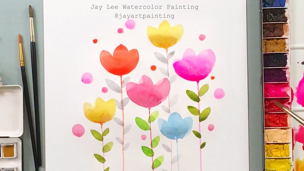LVL1 Easy Simple Flower Painting For Beginners