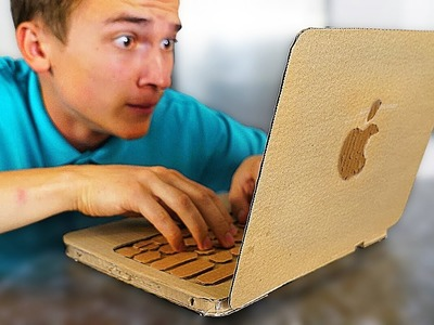 MacBook Pro from CARDBOARD ! How to Make Apple laptop