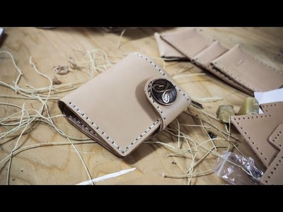Making a Leather Snap Wallet with Cutting Dies