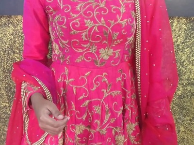 Making of a Zardosi Bead work Reception Gown with Dupatta