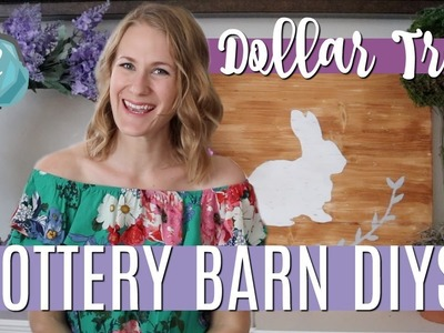*NEW* DOLLAR TREE POTTERY BARN DECOR! ???? Farmhouse Sign DIY, Topiary & Spring Wreath