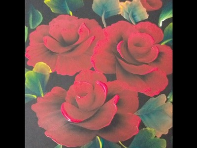 One stroke Red rose