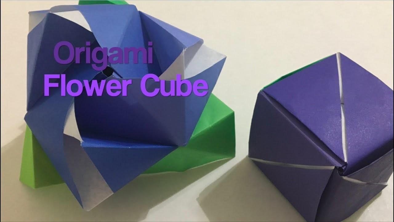 Origami flower cube origami flower cube mykc og mightylinksfo